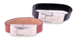 pen drive usb bracciale cod 8 cinturino in pelle e metallo