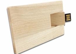 pen drive biglietto da visita in legno