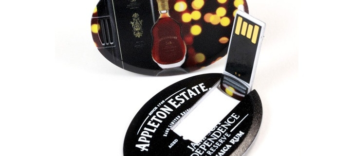 pen drive card ovale